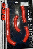 Шланги радиатора DRC Radiator Hose Kit CRF250R 10-13 Red для мотоцикла, доставка по России
